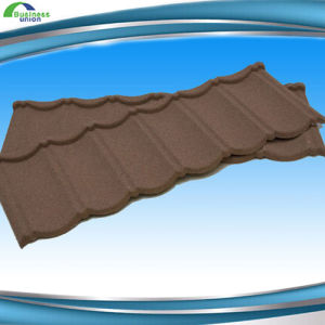 New Design Flat Roofing Shingle Stone Coated Metal Roof Tile with High Quality pictures & photos
