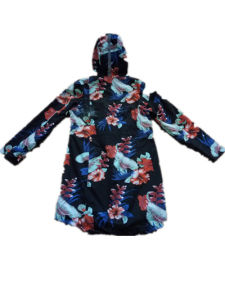 Colourful Reflective Hooded PVC Raincoat for Woman pictures & photos