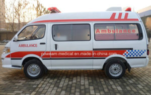 Hospital Golden Dragon 2 Wheels Drive Diesel Ambulance (XML5035X) pictures & photos