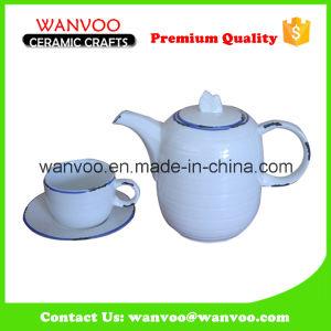Simple Glazed China White Ceramic Porcelain Tea Set pictures & photos