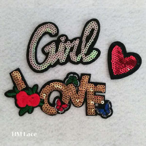 Butterfly Style Sequins Patch for Baby Clothes Garments Decoration Charactor Shape pictures & photos
