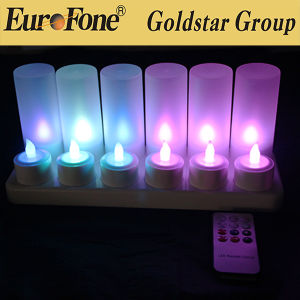 LED Rechargeable 12 Pieces Candle for Decoration pictures & photos