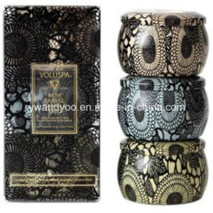 Romantic Scented Soy Printed Tin Candle Gift Set in Box