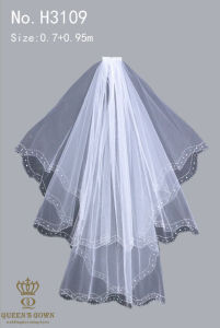 The New Hand-Beaded Lace Bridal Veil Short Paragraph, Factory Direct pictures & photos