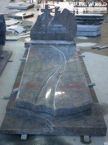 G654 Dark Grey Granite Cemetery Monument for Poland Market pictures & photos