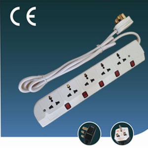 Five Ways Universal Extension Socket with Individual Switch