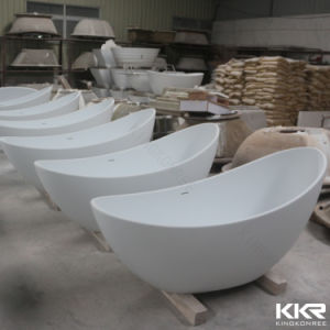 5 Star Hotel Freestanding Acrylic Stone Bathtub with Pedestal pictures & photos