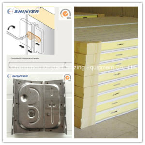 50mm Polyurethane PU Sandwich Panel with 0.326mm Color Steel Plate pictures & photos