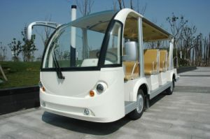 Electeic Garden Utility Vehicle 15 Seaters Shuttle Bus for Sale with Cheap Price pictures & photos
