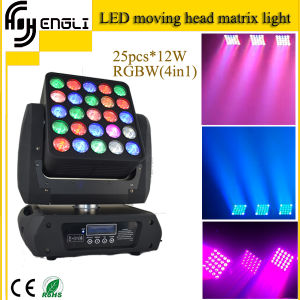 4in1 25PCS*12W LED Stage Moving Head Matrix Light (HL-002BM) pictures & photos