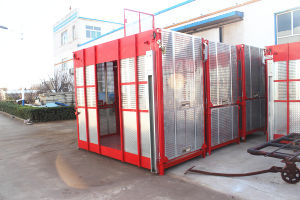 China Manufacture Double Cages Construction Building Hoist pictures & photos