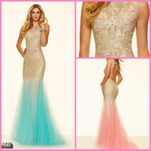Green Pink Cocktail Dress Evening Gown Crystal Vestidos Prom Dress PA98017 pictures & photos