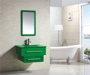 New Fashion Embossment Design Green PVC on Wall Modern Fashion Bathroom Vanity (9036-6) pictures & photos