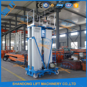 Ce Hydraulic Aluminum Mast Climbing Work Platform with Wheels pictures & photos