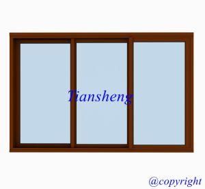 Australia Standard Aluminum Sliding Window with Crimsafe Flyscreen pictures & photos