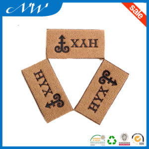 Custom High Quality Branded Leather Patch Jeans PU Leather Patches