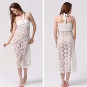 Women Multi Wear Long Cover up Beach Dress (50039-1) pictures & photos