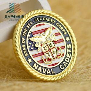 2017 Die Casting Gold Customize Enamel Military Coin in Metal Crafts pictures & photos