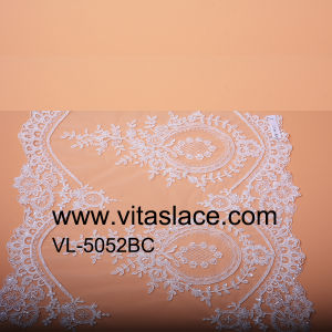 Rayon and Polyester Beaded Lace Trim for Wedding Gown Vb-5052bc