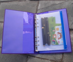 Purple PVC Cover Notebook pictures & photos
