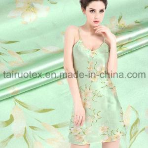 100% Digital Printed Crepe Satin Silk for Pajamas Fabric pictures & photos