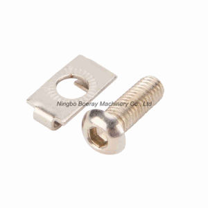 Spring Buckle End Fastener with Screw for Aluminum Extrusions pictures & photos