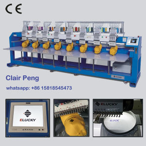 8 Heads Cap T-Shirt Flat Embroidery Machine for Cap Embroidery Machine