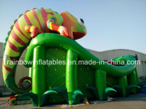 Giant Hot Selling Inflatable Chameleon Slide for Kids and Adult pictures & photos