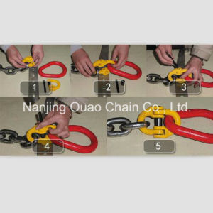 Yellow Finished High Test Steel Link Chain with Hooks