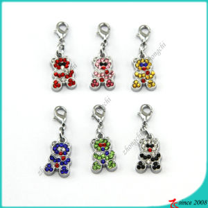 Cute Rhinestone Bear Charms for Kids DIY Jewelry (SPM)