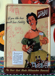 Cheap Custom Vintage Metal Tin Signs/Calendar Wall Hanging Sign pictures & photos