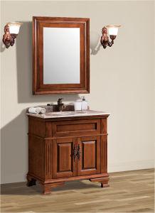 Simple Wooden Bathroom Cabinet with Mirror Cabinet Al6303
