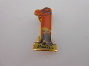 Promotional Lapel Pin, Custom Made Badge with Diamond (GZHY-CY-043) pictures & photos