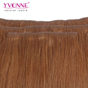 Brazilian Straight Clip in Hair Extensions for White Women pictures & photos