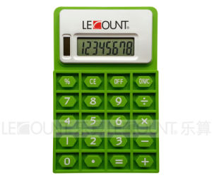 8 Digits Dual Power Foldable Silicon Calculator with Magnet (LC525)
