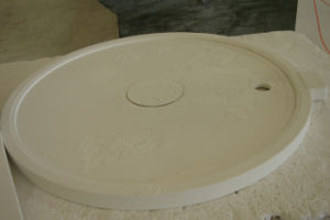 Customized Round Solid Surface Sanitary Ware Shower Tray pictures & photos