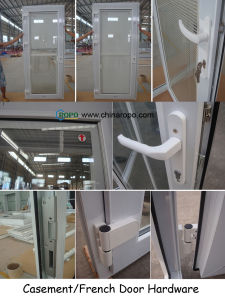 Hot Sell UPVC Replacement Doors with Grey Color Glass pictures & photos