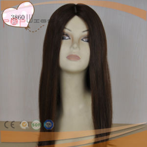 Human Virgin Remy Hair Silk Top Women Wig pictures & photos