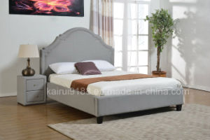 Grey Fabric Leisure Modern Bed in Bedroom pictures & photos