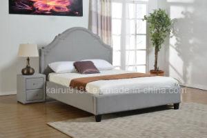 Grey Fabric Leisure Modern Bed in Bedroom