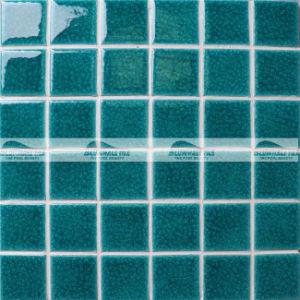 48X48mm Blue Ice Crack Ceramic Swimming Pool Mosaic (BCK703)
