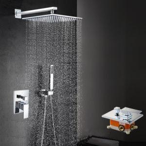 High-End Brass Shower Mixer Ceiling Shower Set Bathroom Set