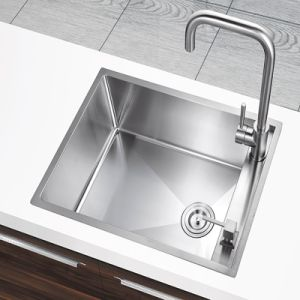 2015 New Handmade Ss304 Stainless Steel Single Bolw Kitchen Sink (YX5338)