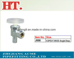 Chrome Plating Forged Brass Plastic Handle Angle valve pictures & photos
