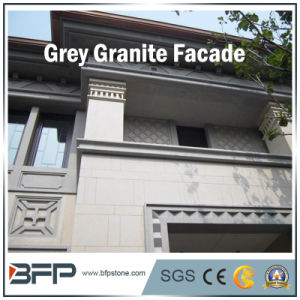 Polished Granite Facade Stone Tile for Exterior Wall Cladding in Grey Color pictures & photos