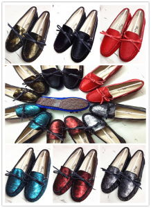 Lady Genuine Leather Warm Shoes (FB-80529) pictures & photos