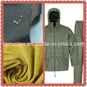 The Waterproof Taslon with PU Coated Finish for Garment Fabric pictures & photos