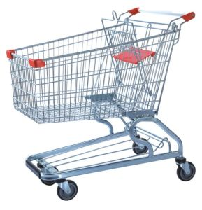 High Quality 180L Shopping Trolley with Handle Wheels and Baby Seats Packing Use Air Bubble Film (YD-T4) pictures & photos