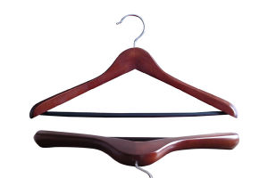 Brown Wooden Suit Hanger with Non Slip Bar Wooden Clothes Hangers for Jeans pictures & photos