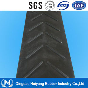6-25mm Height Anti Slip Cleated V Type Chevron Conveyor Belt pictures & photos